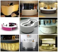 High End Semi-round Spa Front Counter,Salons Reception ...
