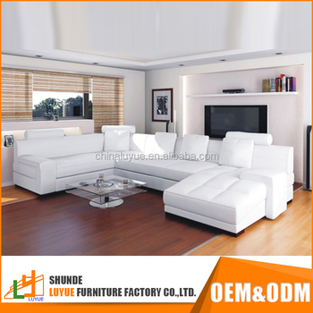 decorate living room white leather sofa paint ideas for with brown furniture new design u shaped sectional luxury corner couch