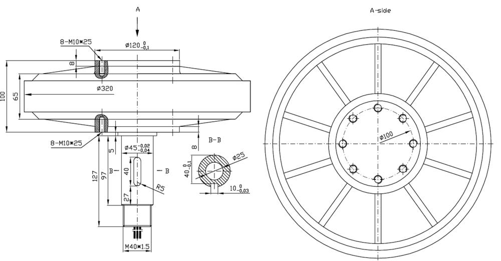 1kw Permanent Magnet Generator For Vertical Wind Turbines