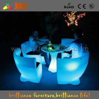 led table and chairs swivel chair floor protector new arrived light up tables set outdoor