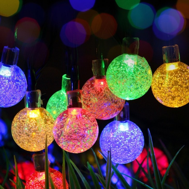 Color changing solar crackle glass ball led light led solar christmas ball  light, solar ball light