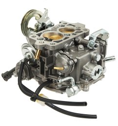 auxmart carburetor for toyota 22r engine 21100 35520 [ 1000 x 1000 Pixel ]