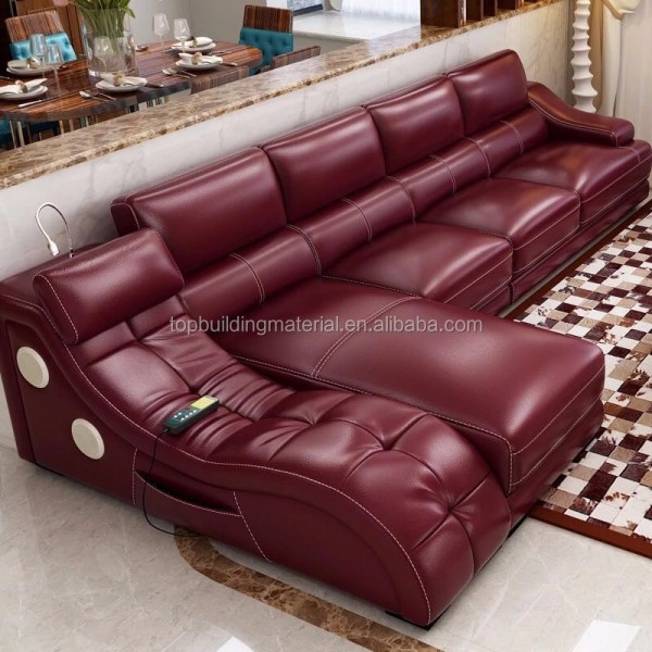 Curved Genuine Leather Bed White Lift Storage