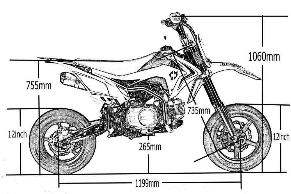 125cc Motard Off Road Moto Pitbike Supernova 125 Supermoto