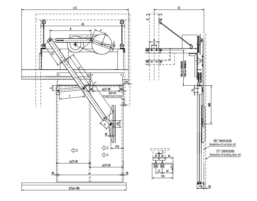 Automatic Opening Service Mechanism For Elevator Doors
