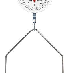 get quotations detecto mcs 40df hanging dial scale 40 lb capacity fish pan  [ 816 x 1500 Pixel ]