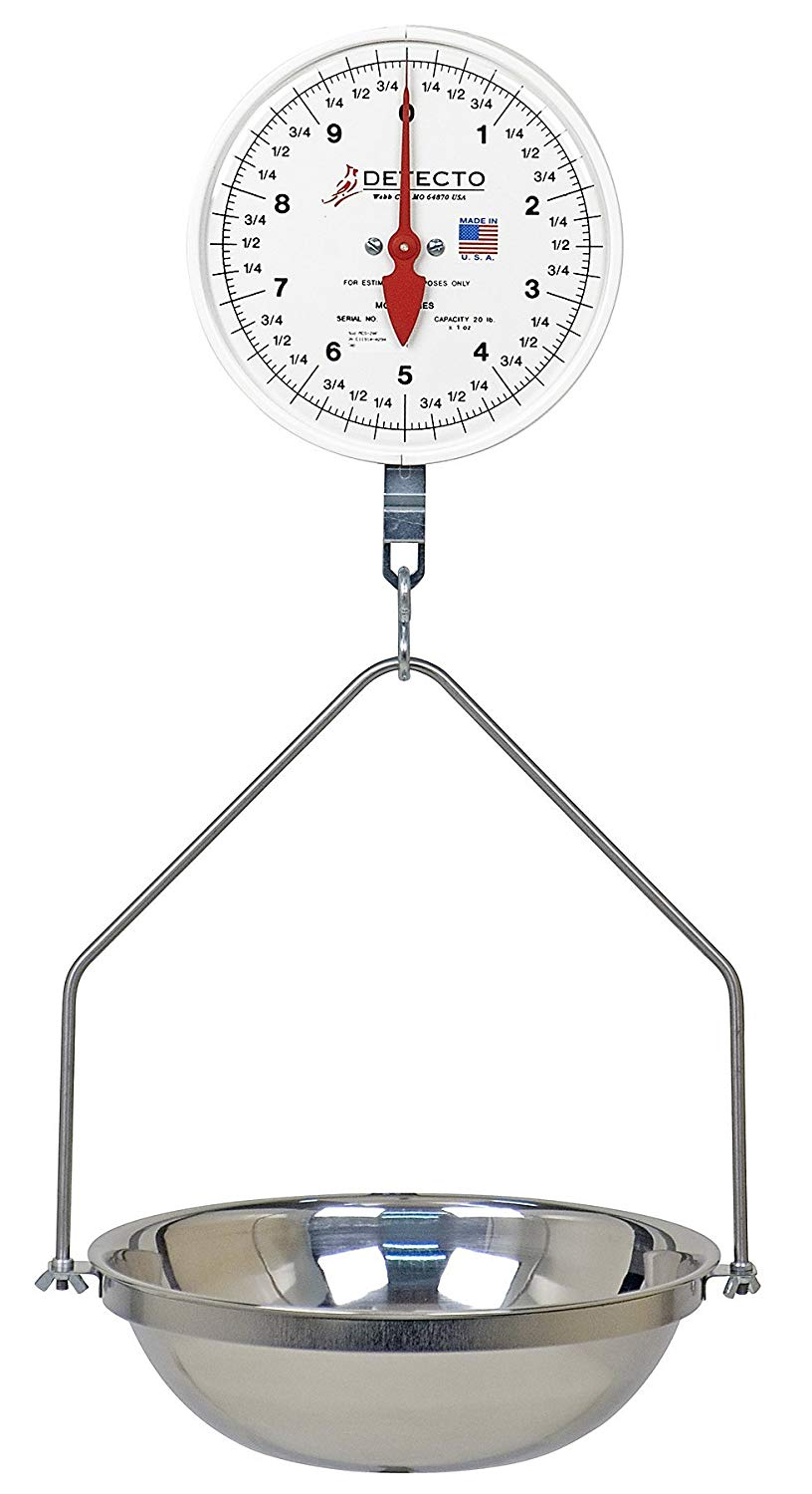 hight resolution of get quotations detecto mcs 40df hanging dial scale 40 lb capacity fish pan