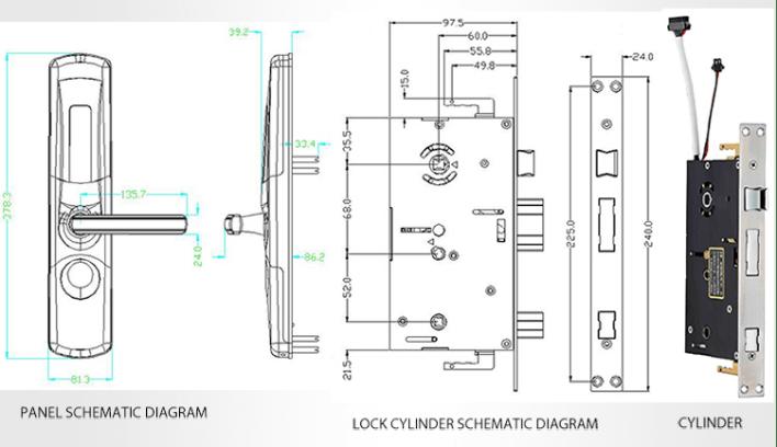 Lock Pick Set Sliding Door Lock Fingerprint Rfid Door Lock