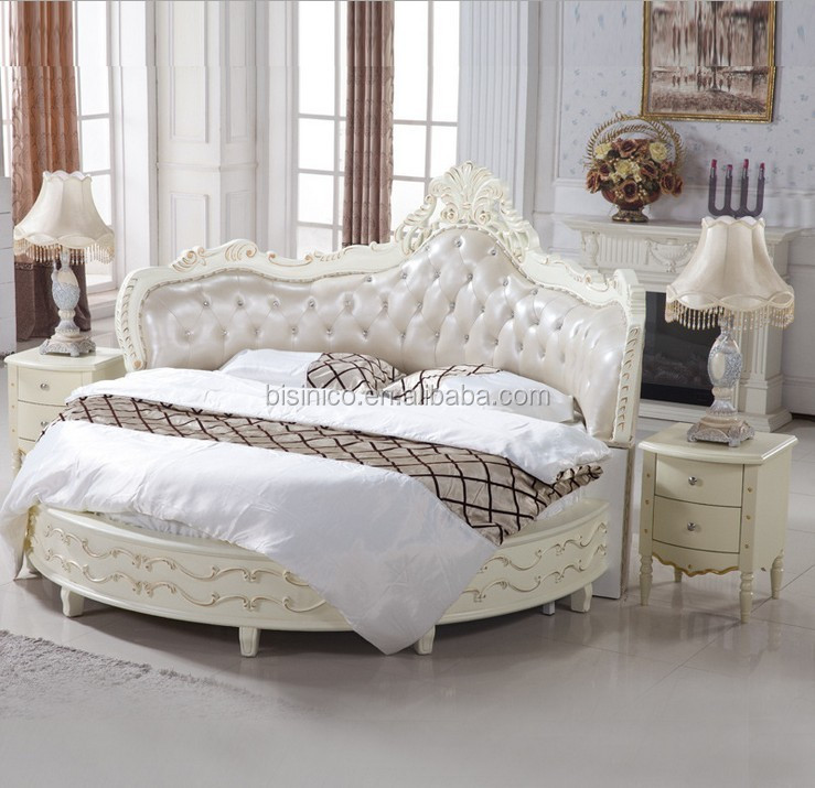 Luxury Wooden Round BedWood Double White Round Bed  Buy