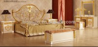 New Item- Bedroom Furniture,Gold & White Luxury Bedroom ...