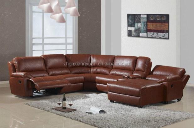 U Shaped Leather Sectional Sofa Centerfieldbarcom - U shaped leather sectional sofa