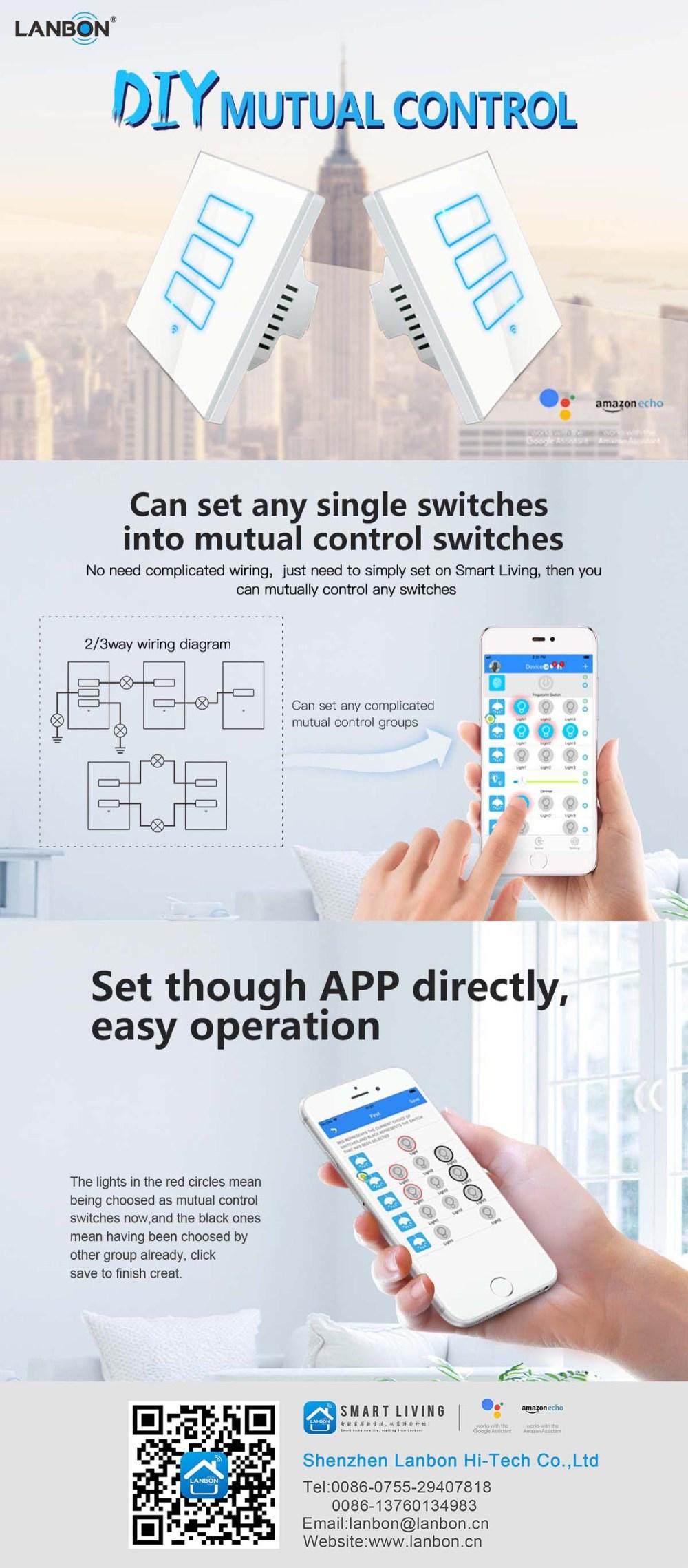 medium resolution of amazon echo alexa and google home 2 gang 1 way 2 way wifi light switch for