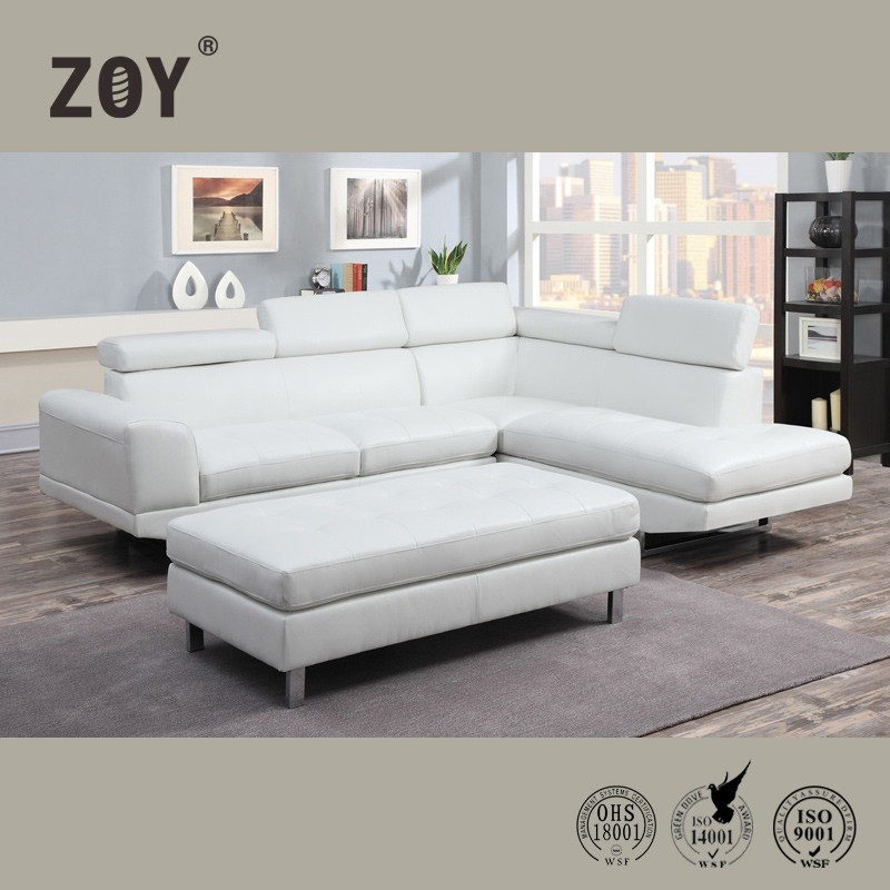 Zoy Modern Corner Sofa Set Designs Sofa For Drawing Room & Leather