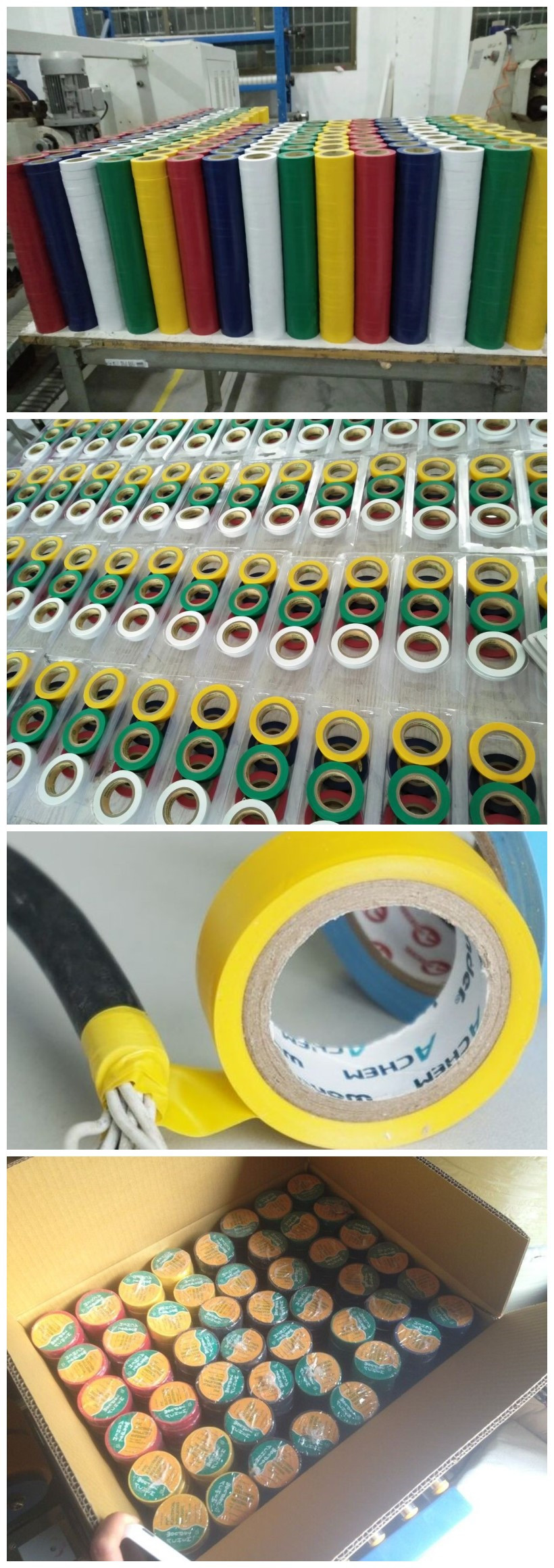 hight resolution of flame retardant pvc automotive electrical insulation wrapping wire harness tape