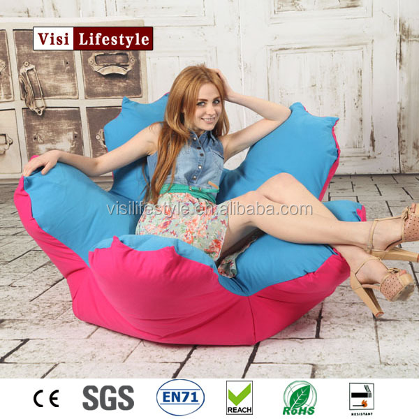 zebra print bean bag chair swivel lounge canvas flower shaped beanbag indoors home decoration
