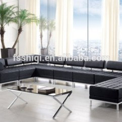 U Shaped Sofa Leather Console Table With Storage Drawers Sectional Shape Fabric Made By Pvc Stainless Steel Frame