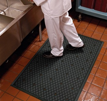 commercial restaurant kitchen mats island table for anti slip holes hollow ring interlock rubber floor