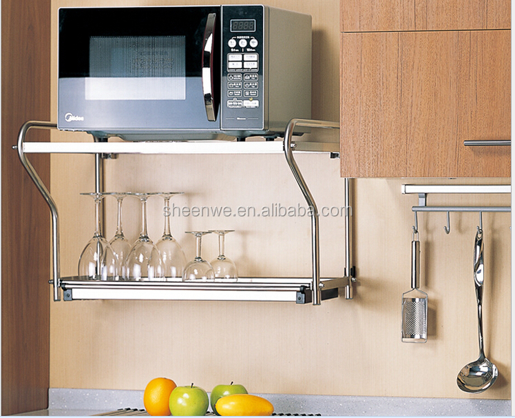 metal kitchen rack rustic sink swp011 guangzhou modular designs utensil wall micro wave oven stainless steel
