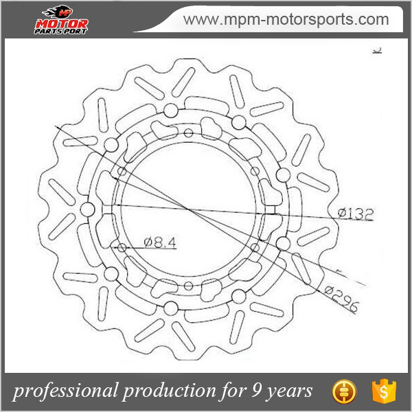 220mm Rear Brake Disc Rotor + Pads For Yamaha Yzf R1 2004