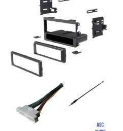 get quotations asc audio car stereo radio dash kit wire harness and antenna adapter to install [ 1200 x 1564 Pixel ]