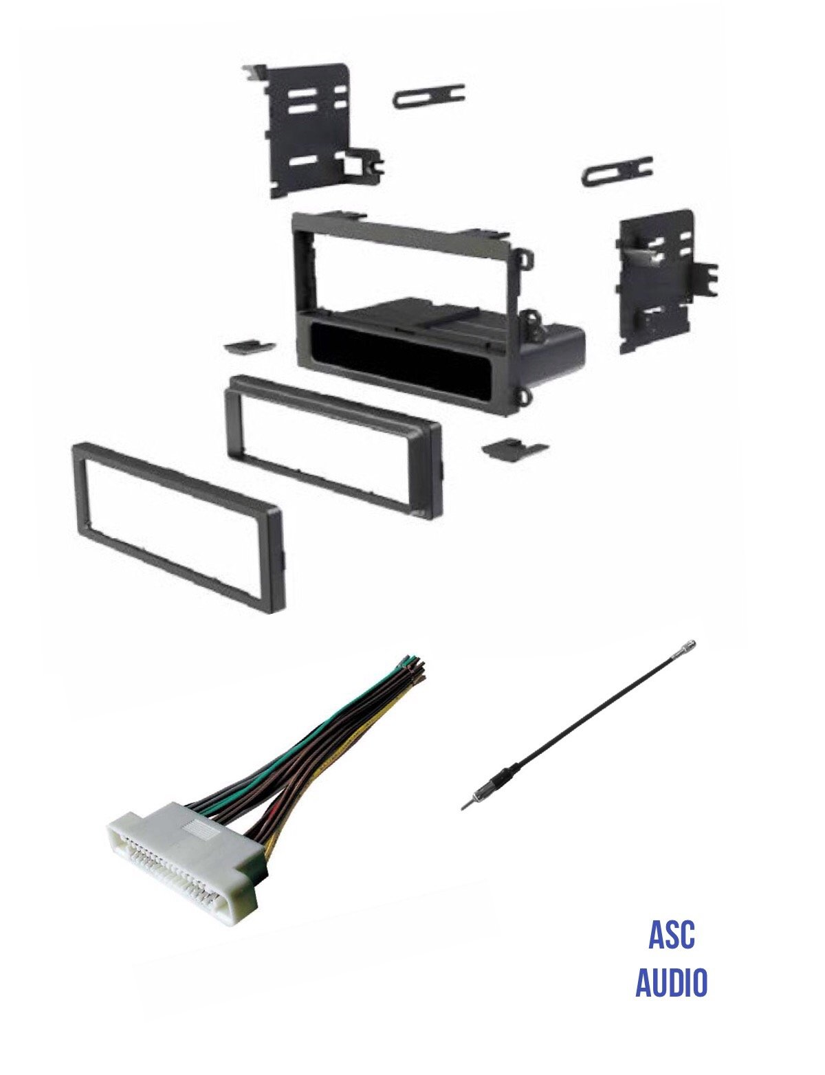 hight resolution of get quotations asc audio car stereo radio dash kit wire harness and antenna adapter to install