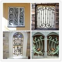 2016 Latest Window Grill Design/iron Grill Window Door ...