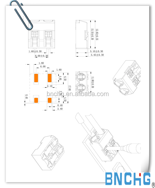 Wholesale 2061 In Wire Connector For Led Tube Lights With
