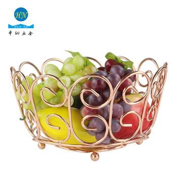 kitchen fruit basket amazing gadgets heart series metal holder dining table decoration bowl rose gold chrome