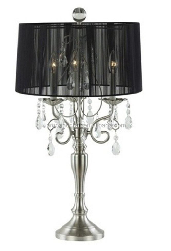 Black Crystal Chandelier Table Lamp Supplieranufacturers At Alibaba