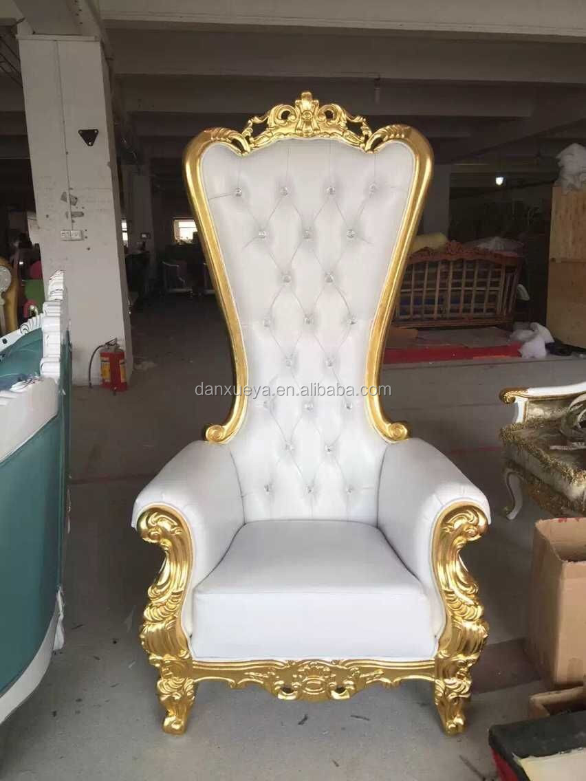 kings chair for sale wheel chairs danxueya white throne luxury high back king party