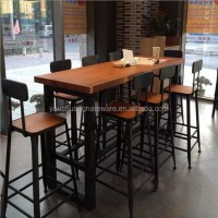 Casual Coffee Shop Wood Dining Tables And Chairs Wholesale ...