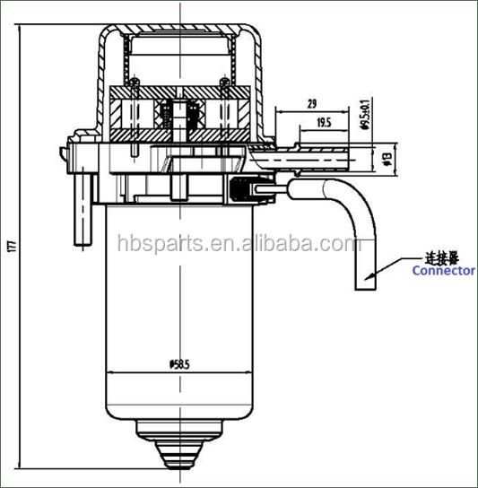 Electrical Brake Vacuum Pump For Diesel Electric Hybrid