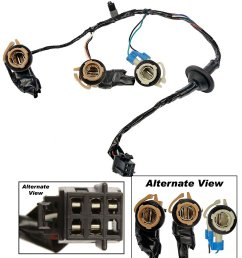 apdty 034126 tail lamp light wiring harness bulb connector fits rear left or right on 2000 [ 2216 x 2500 Pixel ]