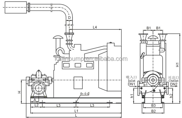 Water Usage Diesel Engine Fire-fighting Pump /emergency