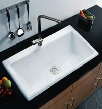 Cast Iron Enameled Sing Bowl Black Deep Kitchen Sinks ...