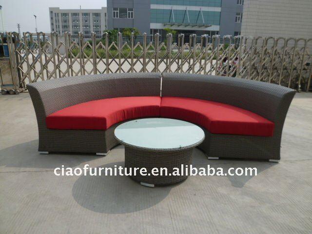 wicker outdoor semi circle sofa buy semi circle sofa patio morden rattan furniture wicker leisure sofa set product on alibaba com