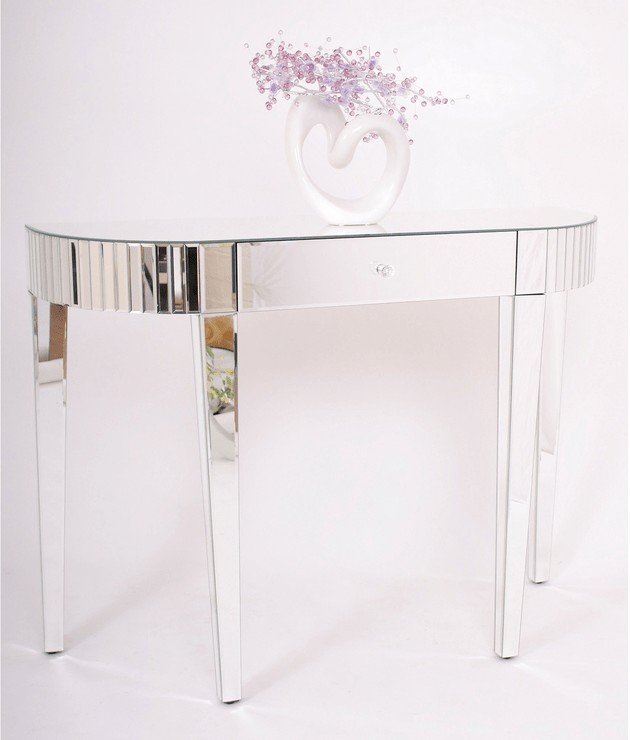Brand New Venetian Mirrored Deco Hall Table Console