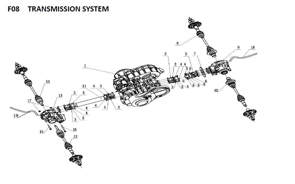 Axle For Xinyang Utv500 And Utv600,Msu 600cc Utv,Msu 600cc