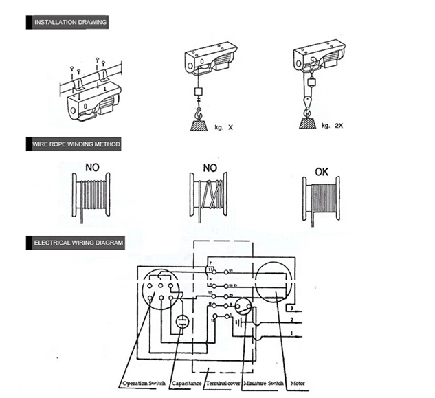 electric hoist wiring diagram