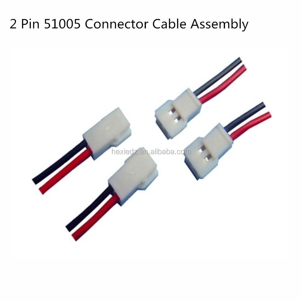 medium resolution of 2 pin molex 51005 connector male female cable wire harness