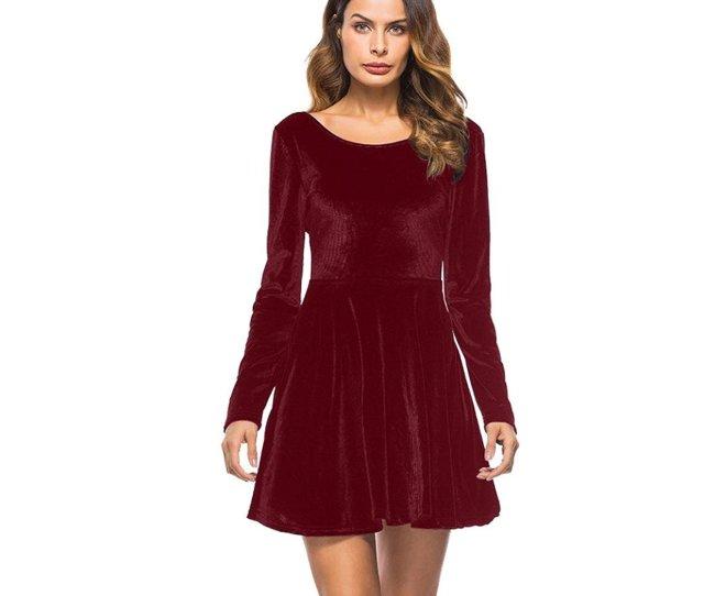 Get Quotations  C B Ieason Women Dress Long Sleeve Backless Dress Party Evening Porm Skater Mini Dress