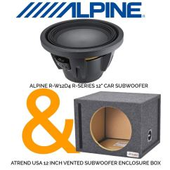 Dual Voice Coil Subwoofer Box Sony Marine Stereo Wiring Diagram Buy Alpine R W12d4 Series 12 With 4 Ohm