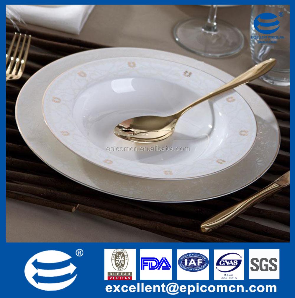 wholesale bone china gold rimmed dinner plates, wholesale