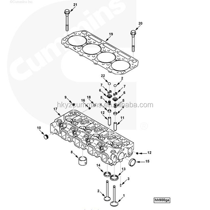 China A2300 4900345 Gasket Cylinder Diesel Generator
