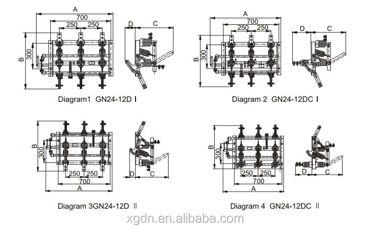 Gn24-12(d) Kv Indoor Disconnecting Switch(isolator