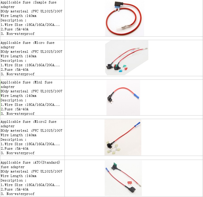 Car Mini Blade Fuse Holder Waterproof 18awg Black Wire