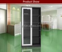 Huge Sliding Glass Door Cd Dvd Vhs Storage Rack Cabinet ...