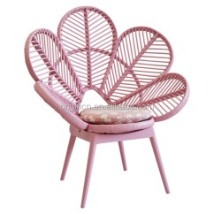 Chair Fabric Material Cover Hire Eastbourne Pink And Green Cute School Furniture Flower Shaped Pe Polyethylene Rattan Peacock - Buy ...