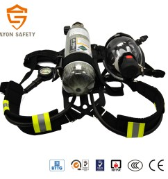 industrial scott drager scba fire fighting portable breathing apparatus with light weight 3l tank [ 1417 x 1417 Pixel ]