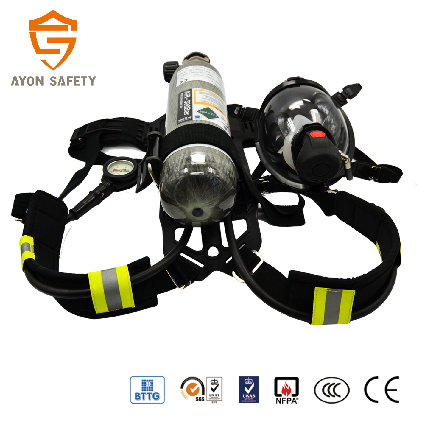 hight resolution of industrial scott drager scba fire fighting portable breathing apparatus with light weight 3l tank
